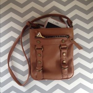Handbags - NonLeather over-the-shoulder purse- gently used